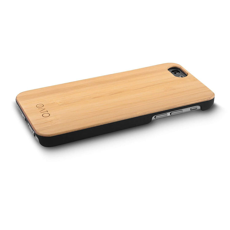 iPhone 6s Plus / 6 Plus Case. Real Natural Bamboo Wood. Minimalistic Design. - iATO Awesome Accessories