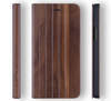 iPhone XR Case. Real Walnut Wood. Folio Flip Book Style. - iATO Awesome Accessories