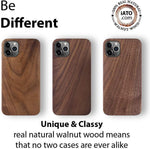 iPhone 12 Pro Max Case. Real Natural Walnut Wood. Minimalistic Design. - iATO Awesome Accessories