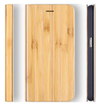 Samsung Galaxy S7 Case. Real Bamboo Wood. Folio Flip Book Style. - iATO