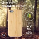 iPhone 6s Plus / 6 Plus Case. Real Natural Bamboo Wood. Minimalistic Design.