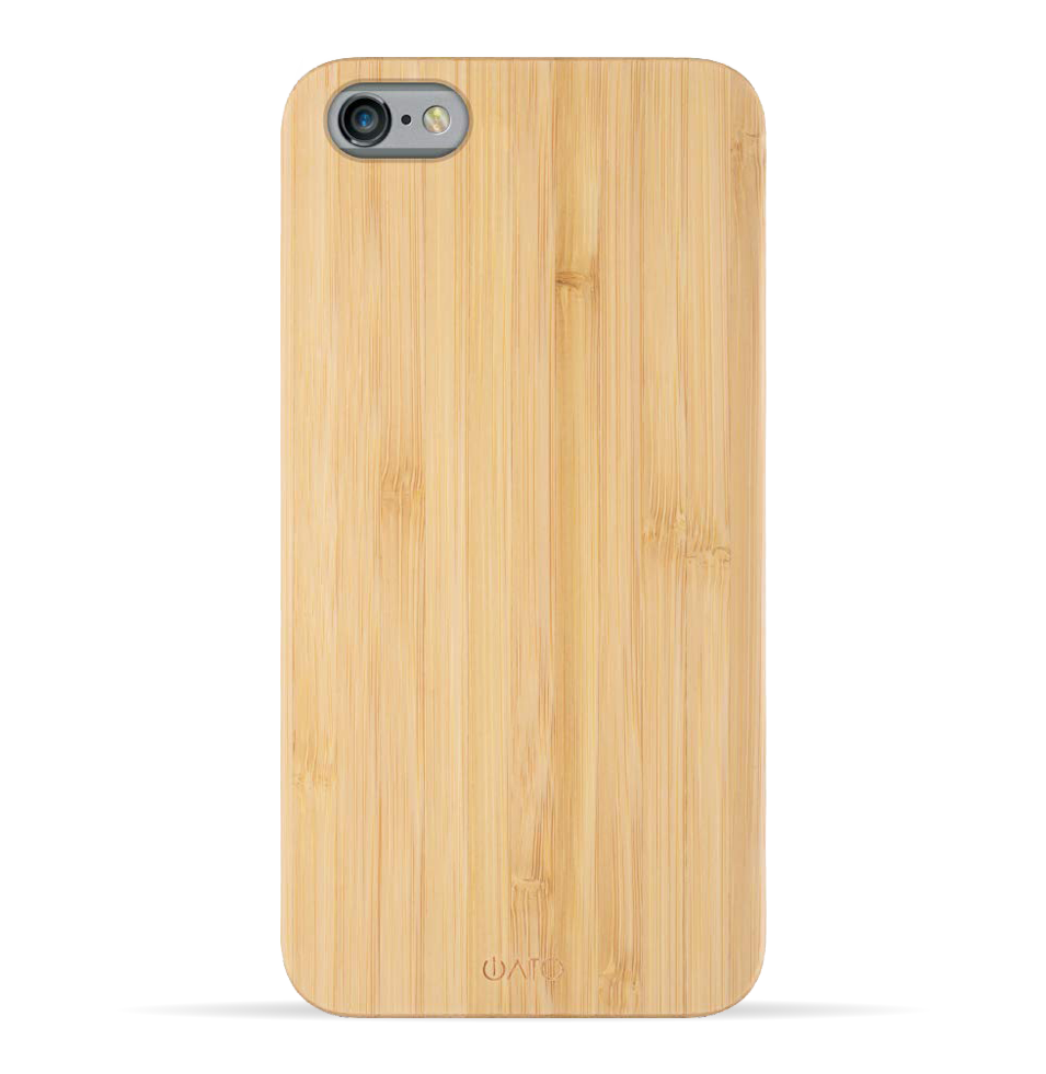 iPhone 6s Plus / 6 Plus Case. Real Natural Bamboo Wood. Minimalistic Design. - iATO