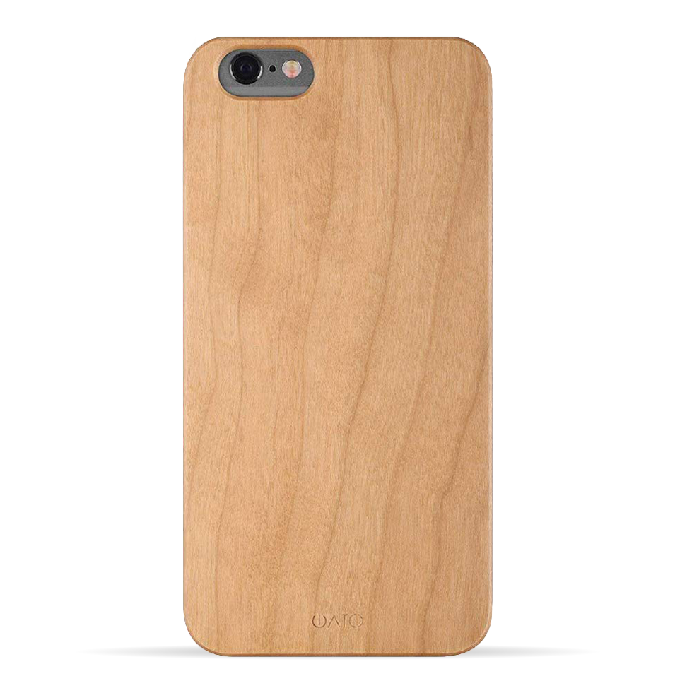 iPhone 6s Plus / 6 Plus Case. Real Natural Cherry Wood. Minimalistic Design. - iATO