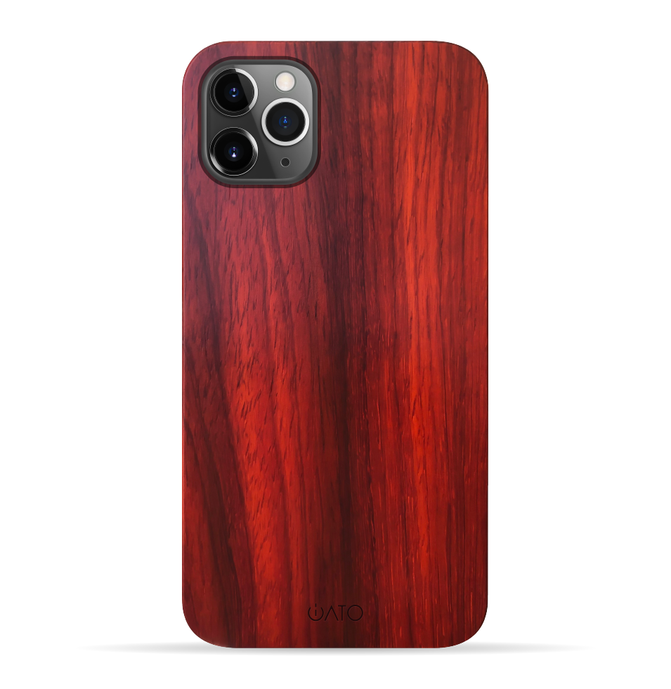 iPhone 11 Pro Case. Real Natural Rose Wood. Minimalistic Design. - iATO