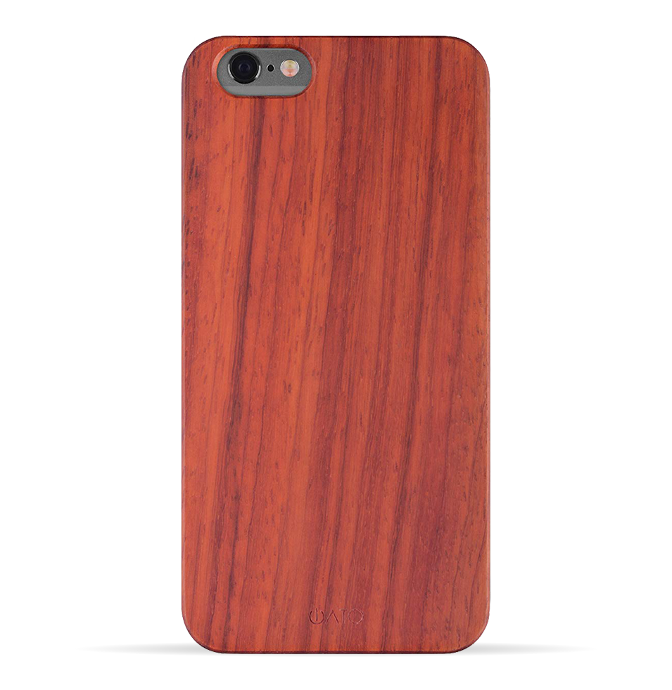 iPhone 6s Plus / 6 Plus Case. Real Natural Rose Wood. Minimalistic Design. - iATO