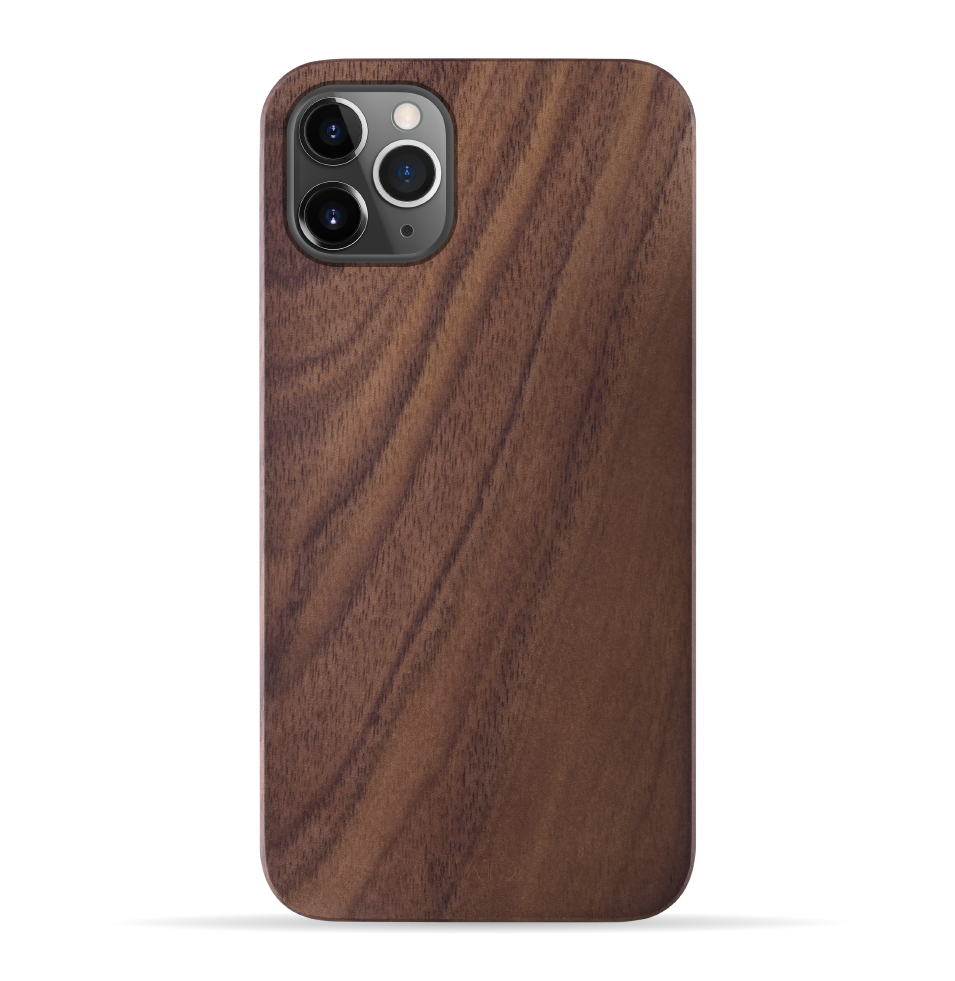 iPhone 11 Pro Case. Real Natural Walnut Wood. Minimalistic Design. - iATO Awesome Accessories