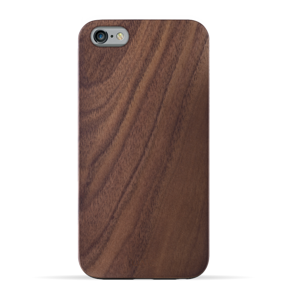 iPhone 6s/6 Case. Real Natural Walnut Wood. Minimalistic Design. - iATO