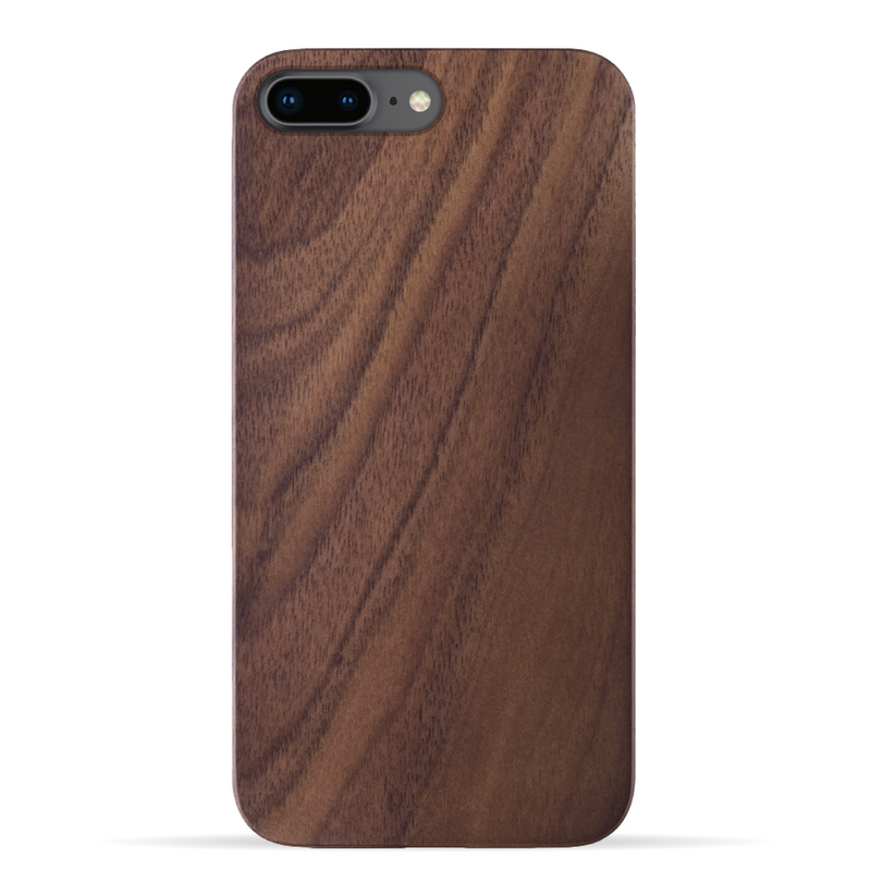iPhone 8 Plus / 7 Plus Case. Real Natural Walnut Wood. Minimalistic Design. - iATO Awesome Accessories