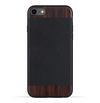 iPhone SE 2020 / 8 / 7 Case. Real Bois de Rosewood & Black Saffiano Leather. - iATO
