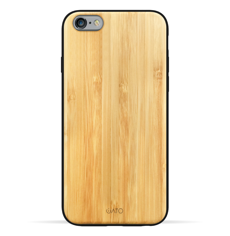 iPhone 6s Plus / 6 Plus Case. Real Natural Bamboo Wood. 360 Protection. - iATO