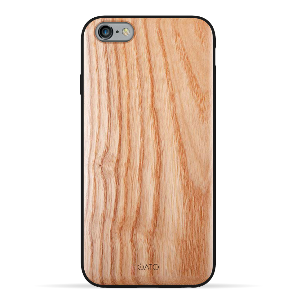 iPhone 6s Plus / 6 Plus Case. Real Natural European Ash Wood. 360 Protection. - iATO