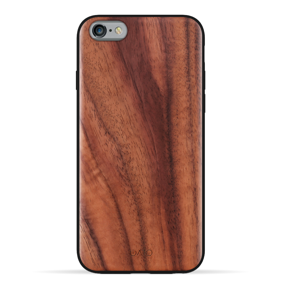 iPhone 6s Plus / 6 Plus Case. Real Natural Walnut Wood. 360 Protection. - iATO