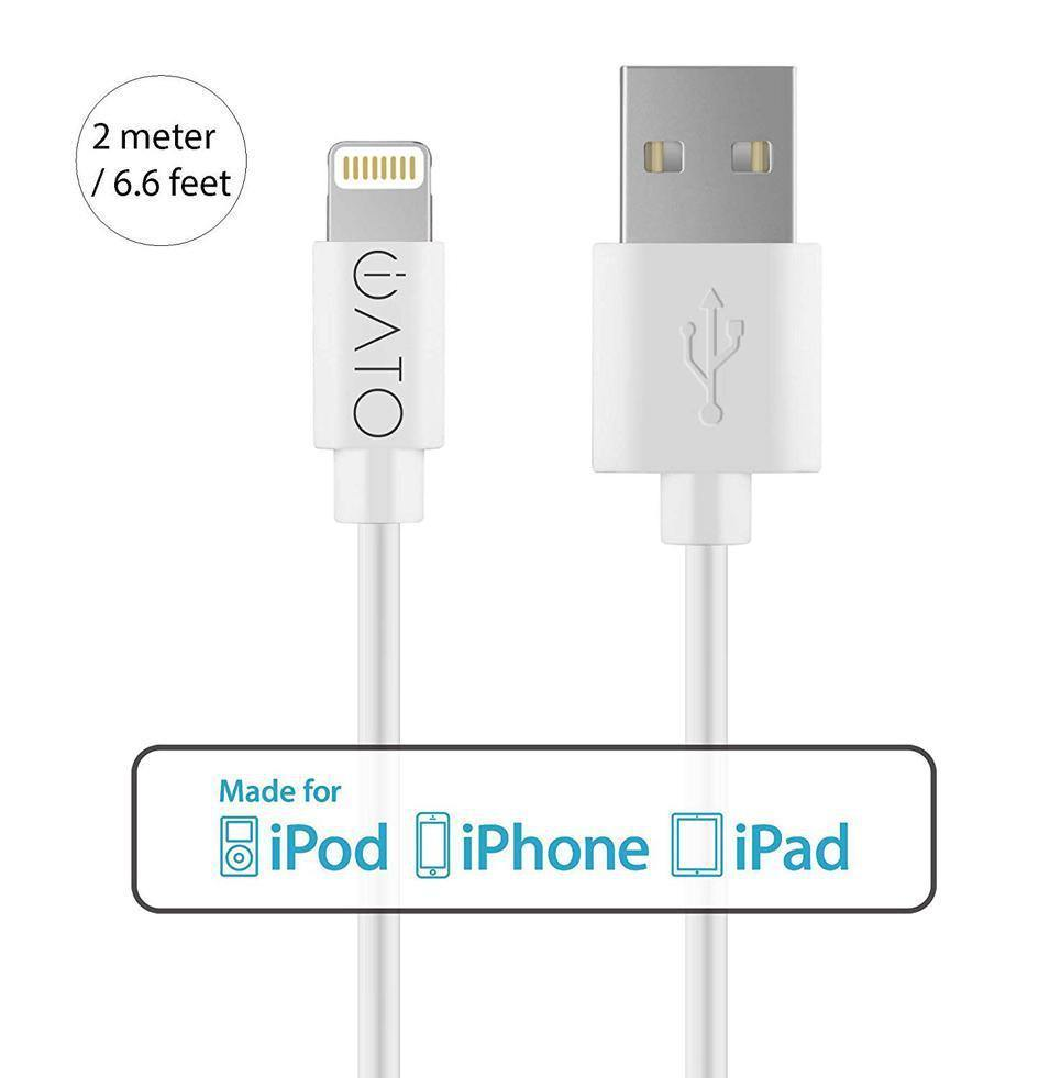Lightning to USB Cable [Apple MFi Certified] for iPhone, iPad & iPod. 2M. - iATO Awesome Accessories