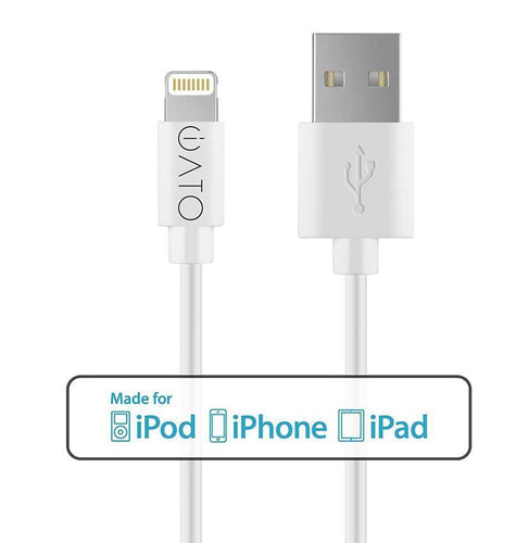 Lightning to USB Cable [Apple MFi Certified] for iPhone, iPad & iPod. 1M. - iATO Awesome Accessories