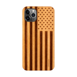 iPhone 12 Pro Case. Real American Flag Cherry Wood. - iATO Awesome Accessories
