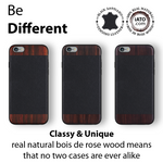 iPhone 6s Plus / 6 Plus Case. Real Bois de Rosewood & Black Saffiano Leather. - iATO Awesome Accessories