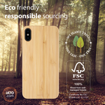 iPhone Xs/X Case. Real Natural Bamboo Wood. Minimalistic Design.