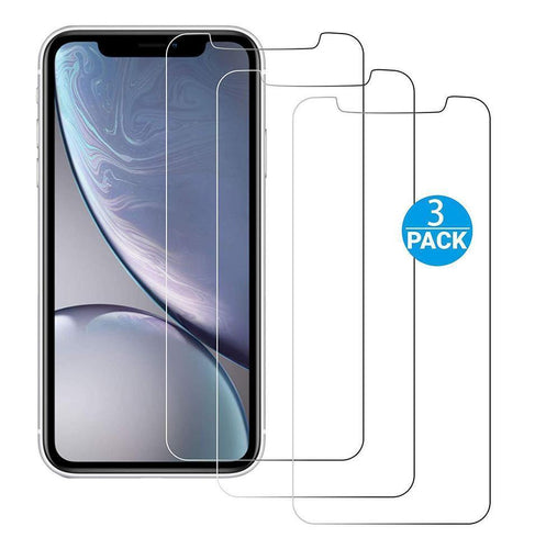 iPhone 11 / XR Glass Screen Protector w Easy Install Kit {3-Pack} - iATO Awesome Accessories