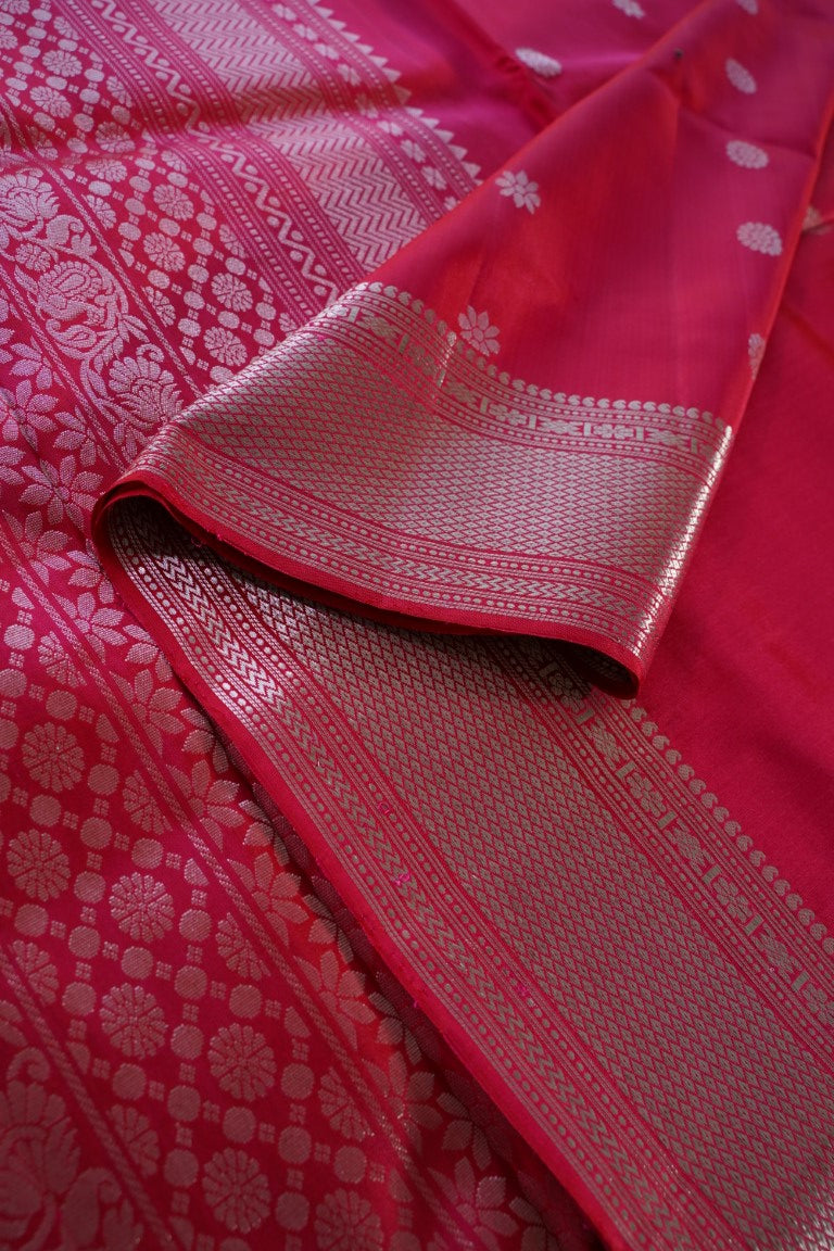 Magenta Soft Silk Saree  PC1651