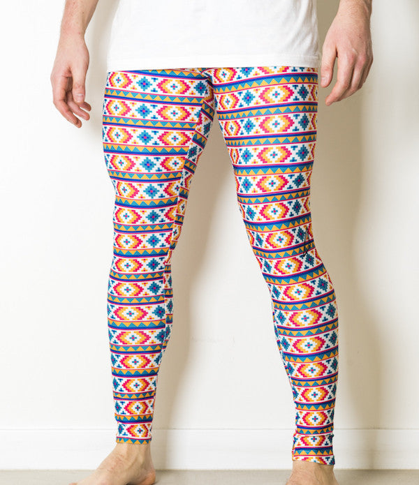Meggings, Mens Leggings, Male Leggings, AZTEC - sTitch Meggings