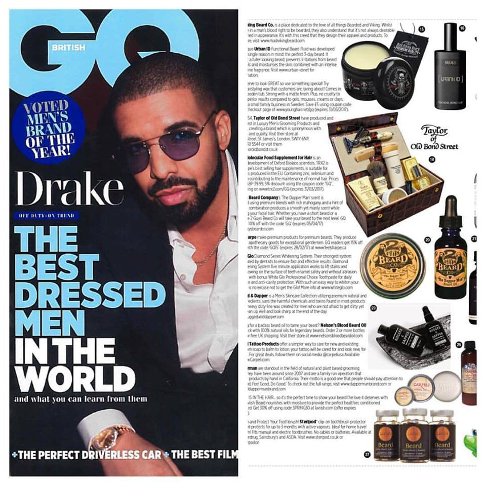 2 Guys Beard Co in GQ