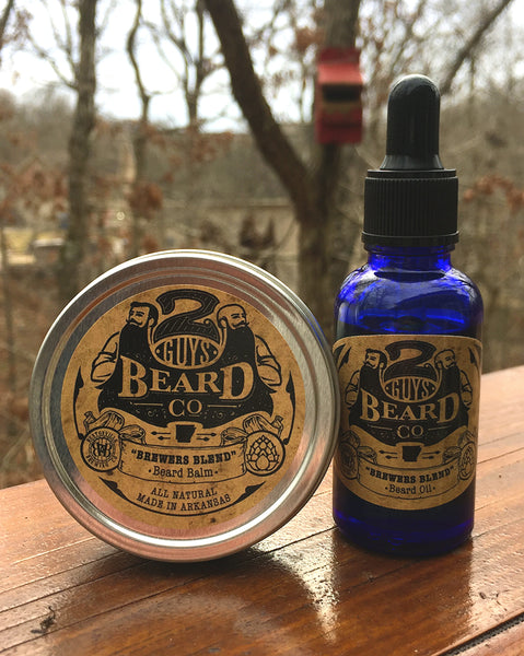 """Brewer's Blend"" Beard Oil & Balm,  - 2 Guys Beard Co"