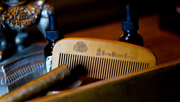 Wooden Beard Combs,  - 2 Guys Beard Co