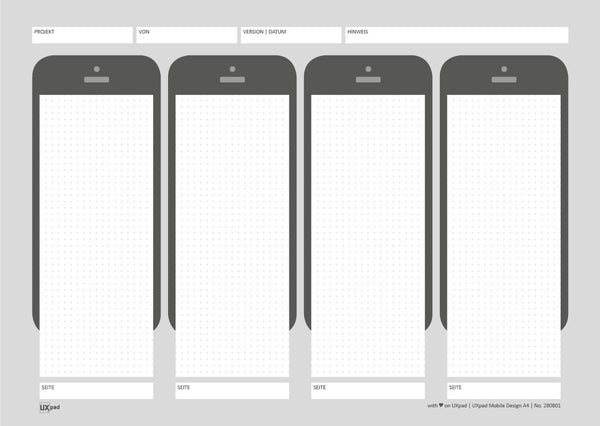 UXpad Mobile Design A4