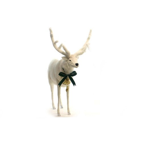 """Dunder"" White Reindeer - Mechanical Animated"