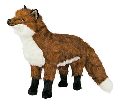 """Marshall"" Red Fox Footstool"