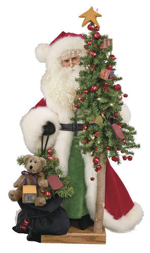 """Classic Bag of Toys""  Santa Father Christmas 29"" Display"