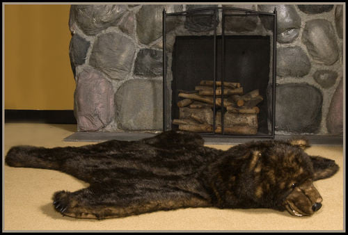 """Flore"" Grizzly Bear Rug"