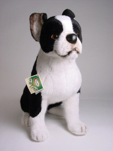 Bean Boston Terrier Luxury Plush Stuffed Dog Big Furry Friends