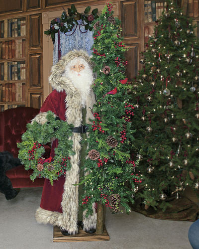 """Tuscany Christmas"" 57"" Santa Father Christmas Display"