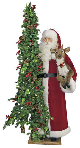 """Oh Deer"" Santa Father Christmas 57"" Display"