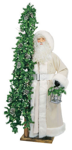 """Ivory Cheer"" Santa Father Christmas 57"" Display"