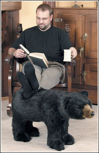 """Neil"" Black Bear Footrest"