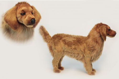 """Ginger"" Golden Retriever Footstool"