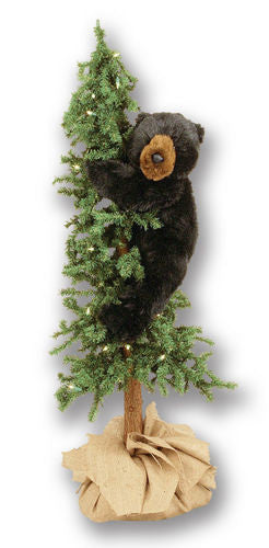 Alpine Tree with Black Bear Display 48""