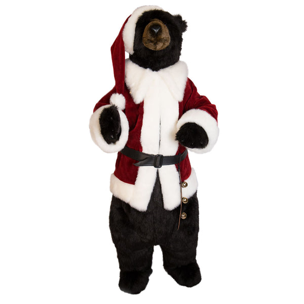 """Santa Claws"" Black Christmas Bear no Teeth"