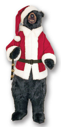"""Santa Claws"" Black Christmas Bear with Teeth"