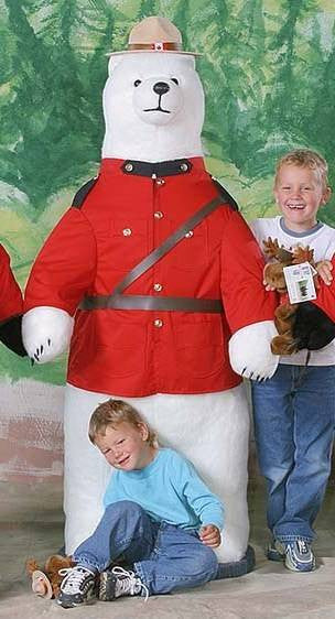"""Ben"" Polar Bear in RCMP Uniform"