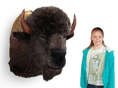 """Brainard"" Buffalo Bison Wall Mount"