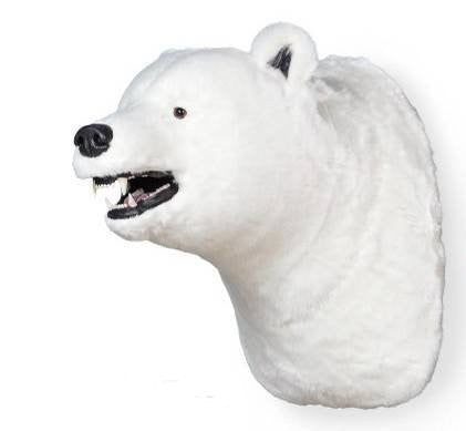 """Fairbanks"" Polar Bear Wall Mount"