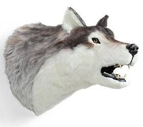 """Jax"" Wolf Wall Mount"