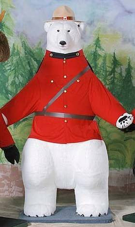"""Jerry"" Polar Bear in RCMP Uniform"