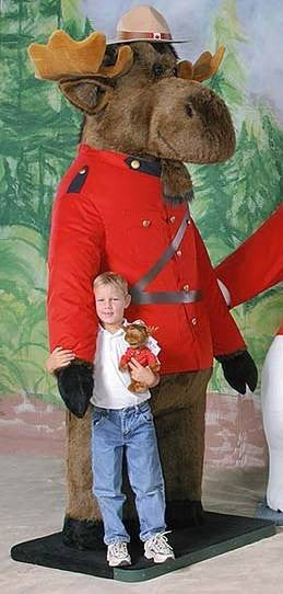 """Marshall"" Moose in RCMP Uniform"