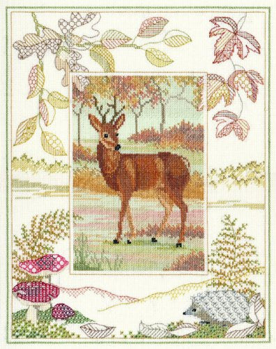 British Wildlife - Deer Counted Cross-Stitch Kit