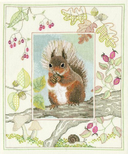 British Wildlife - Red Squirrel Counted Cross-Stitch Kit