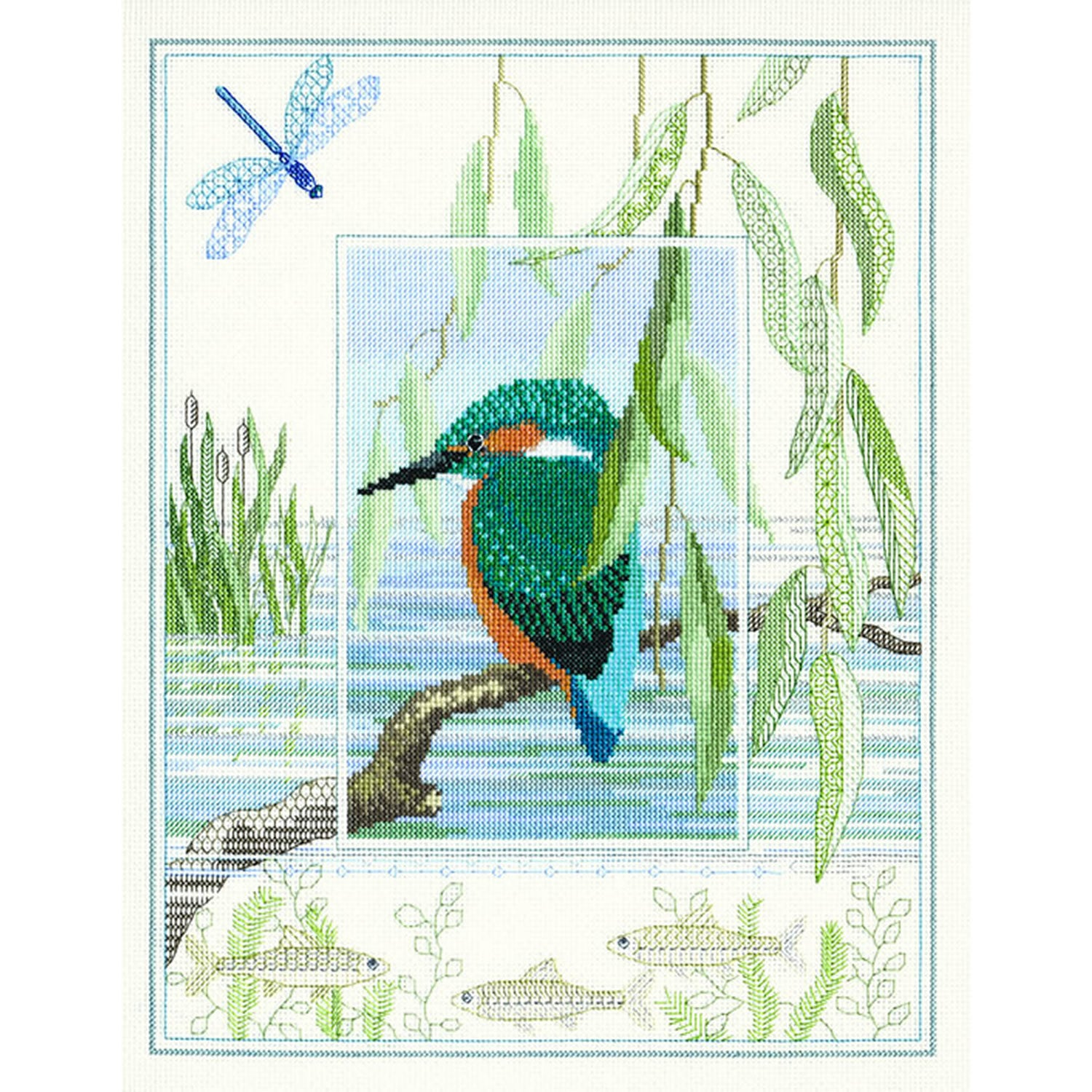 British Wildlife - Kingfisher<br />Counted Cross-Stitch Kit